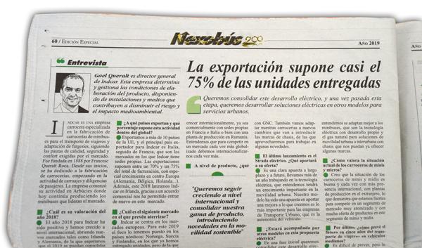 Nexobus publica una entrevista con Gaël Queralt en su especial número 200