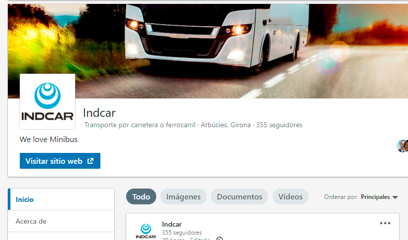 The new LinkedIn channel of INDCAR