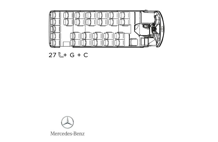 Indcar Next minibús turístico L7 Mercedes Benz distribución