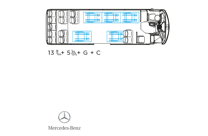 Indcar Next minibús turístico L8 Mercedes Benz distribución