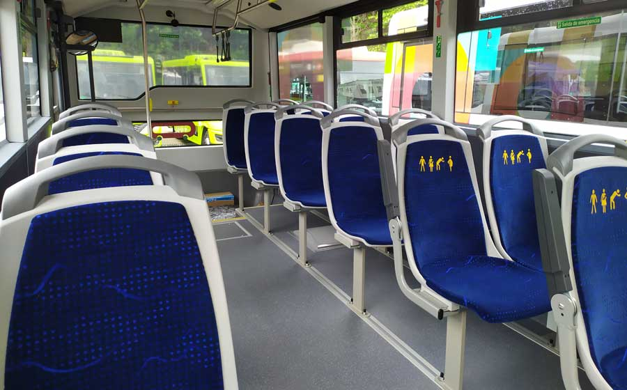 Minibus urbano Mobi City Ontinyent Interior