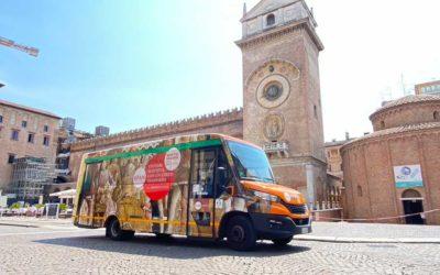 L'autonomia del minibus a gas, chiave per l'operatore APAM di Mantova, in Italia